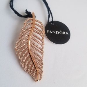 PANDORA Rose Necklace Charm Light as a Feather
